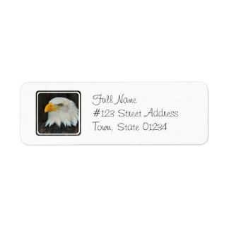 Eagle Head Return Address Mailing Label