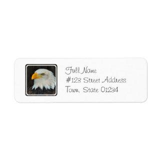 Eagle Head Return Address Mailing Label Return Address Label
