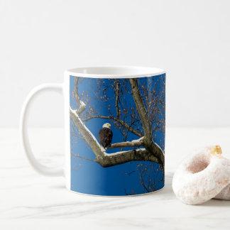 Eagle in a  Snowy Tree Coffee Mug