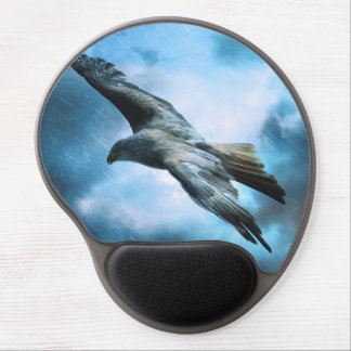 Eagle in flight gel mouse pad