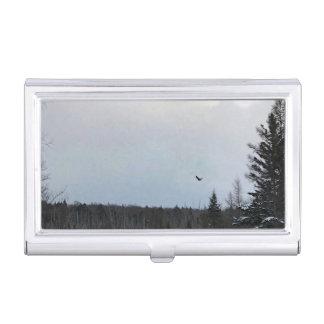 Eagle in Flight Landscape Card Case Holder