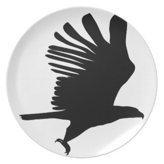 Eagle in Flight Plate