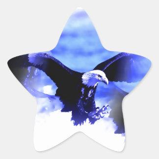 Eagle in Flight Star Stickers