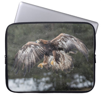 Eagle in Snow Laptop Sleeve