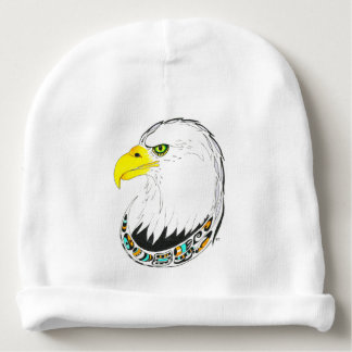 Eagle Ink Drawing Baby Beanie