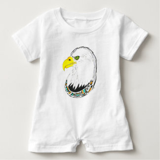 Eagle Ink Drawing Baby Romper