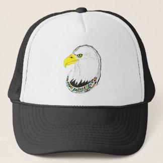 Eagle Ink Drawing Trucker Hat