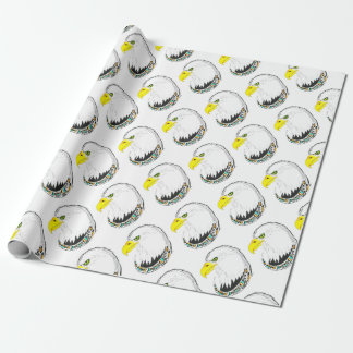 Eagle Ink Drawing Wrapping Paper