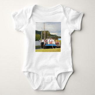 Eagle Inn pub barge, Scotland 2 Baby Bodysuit