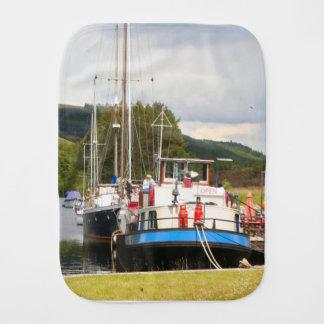 Eagle Inn pub barge, Scotland 2 Burp Cloth