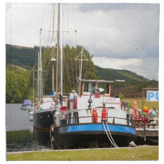 Eagle Inn pub barge, Scotland 2 Napkin