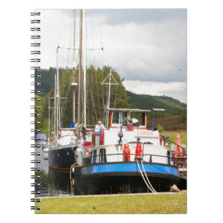 Eagle Inn pub barge, Scotland 2 Notebook