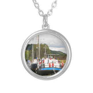 Eagle Inn pub barge, Scotland 2 Silver Plated Necklace
