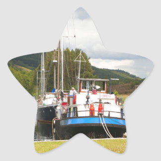 Eagle Inn pub barge, Scotland 2 Star Sticker