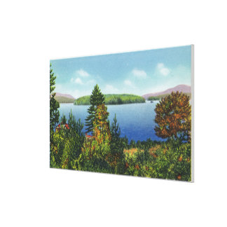 Eagle Island and Lower Saranac Lake View Canvas Print