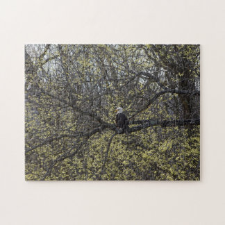 Eagle Lookout Painterly Jigsaw Puzzle