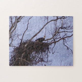 Eagle Lookout Painting Jigsaw Puzzle