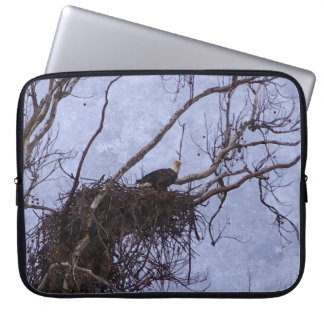 Eagle Lookout Painting Laptop Sleeve