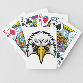 Eagle Mascot Face Bicycle Playing Cards
