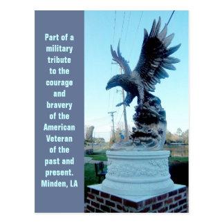 Eagle Military Tribute Postcard