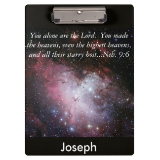 Eagle Nebula Bible Verse Personalized Clipboard