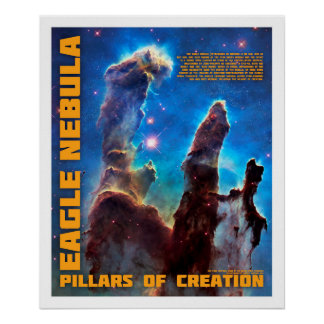 Eagle Nebula - Pillars of Creation Poster