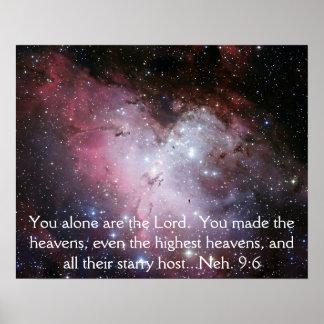 Eagle Nebula Space Photo Bible Verse Poster