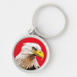 Eagle on Red Keychain