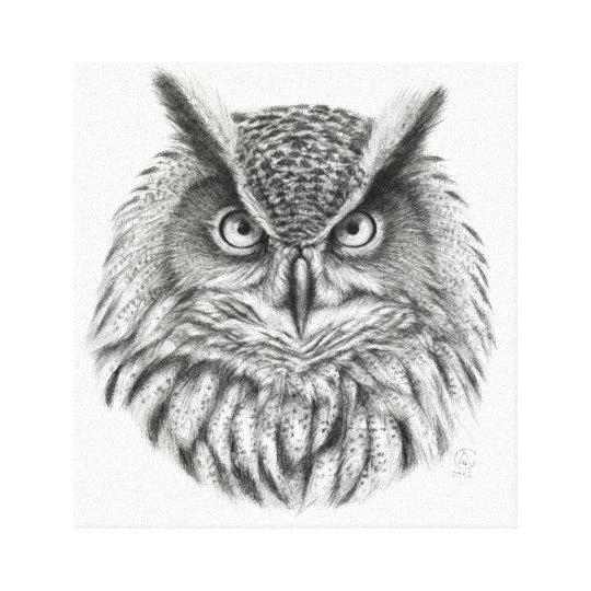 Eagle Owl by Svetlana Ledneva-Schukina G046 Canvas Print