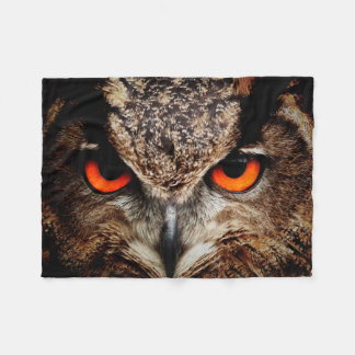 Eagle Owl Fleece Blanket