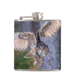 Eagle Owl Hunting Hip Flask