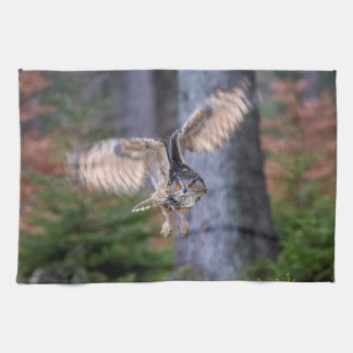 Eagle Owl Hunting Kitchen Towel