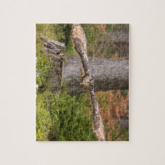 Eagle Owl in Flight Jigsaw Puzzle
