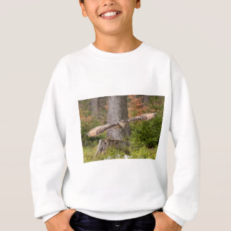 Eagle Owl in Flight Sweatshirt