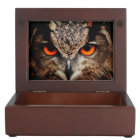 Eagle Owl Keepsake Box