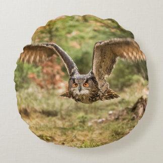 Eagle Owl Round Pillow