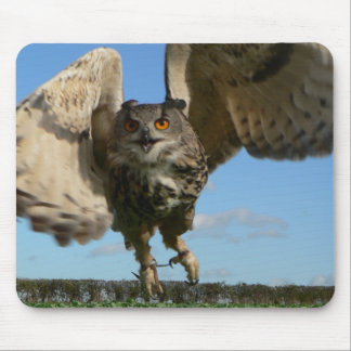 Eagle Owl Swooping Mouse Pad