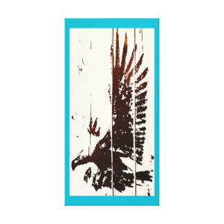 EAGLE - POP-ART CANVAS TEAL GALLERY WRAPPED CANVAS