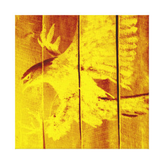 EAGLE - POP-ART CANVAS YELLOW STRETCHED CANVAS PRINT