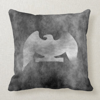 eagle posing throw pillow