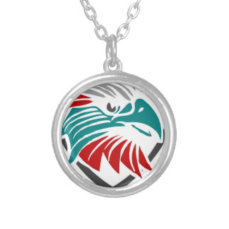 Eagle Pride And Protection Silver Plated Necklace