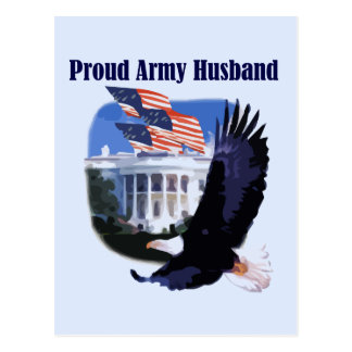Eagle Proud Army Husband Tshirts and Gifts Postcard