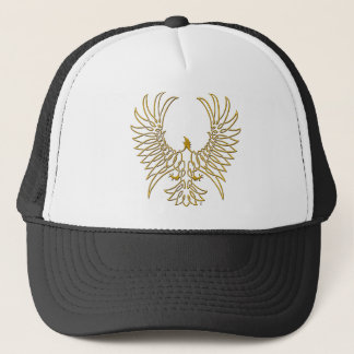eagle rising, gold trucker hat