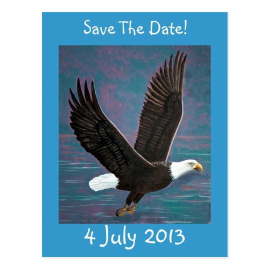 Eagle Save The Date Postcard