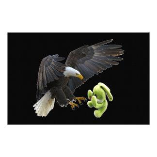 Eagle scares to a teddy custom stationery