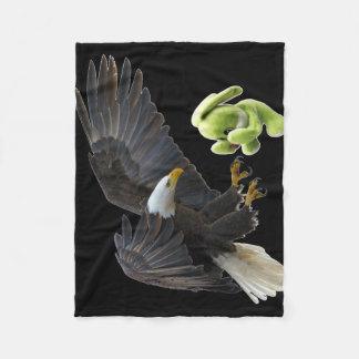 Eagle scares to a teddy fleece blanket