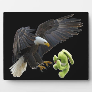 Eagle scares to a teddy plaque