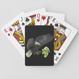 Eagle scares to a teddy poker deck