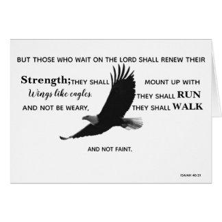 Eagle Scripture Note Card