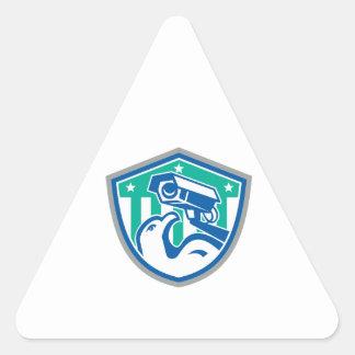 Eagle Security CCTV Camera Retro Shield Sticker